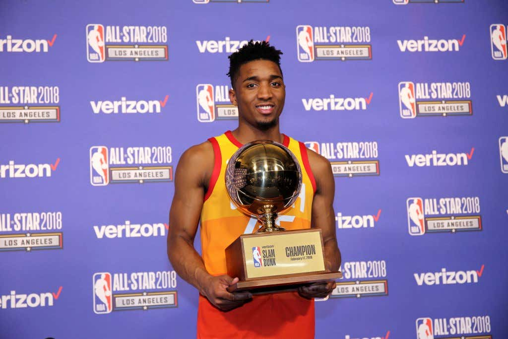 new concept a0642 c5686 Donovan Mitchell Will Not Be Defending His Dunk Contest ...