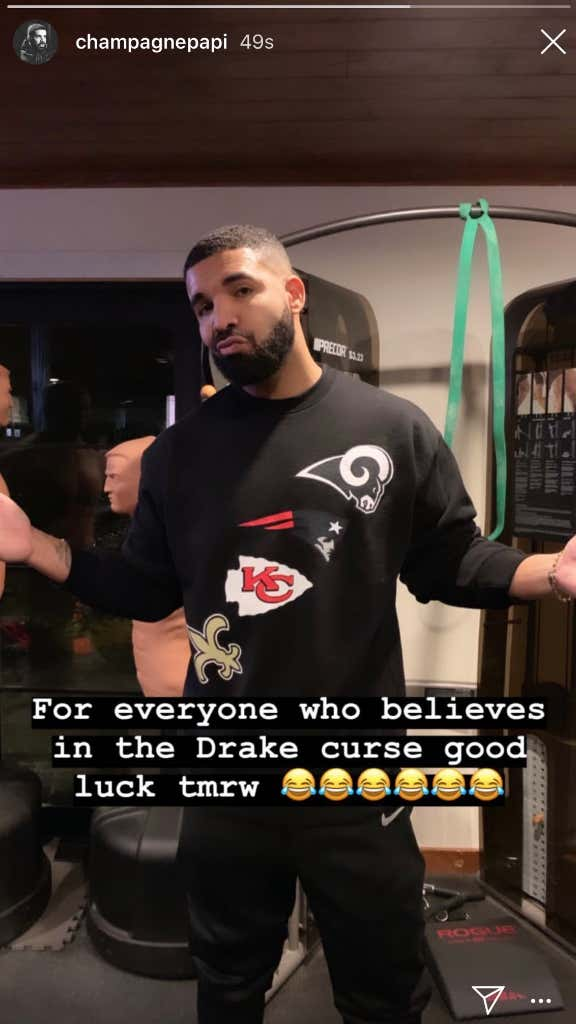 Drake Is Supporting Every NFL Team On Sunday So The Super