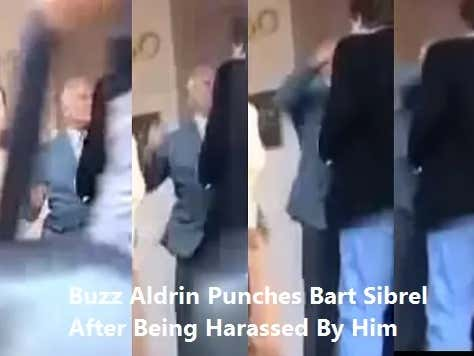 Happy 89th Birthday to Buzz Aldrin. Here is a Video of Him Punching a Moon-Landing Denier in the Face