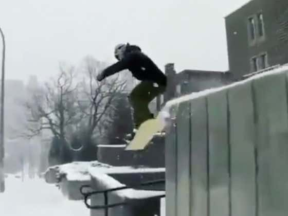 Pro Snowboarder Turns Montreal Into His Own Personal Terrain Park