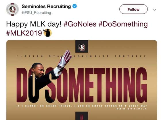HUGE FSU Recruiting Fan Martin Luther King Jr. Honored By Program With Iconic Photoshop On Twitter