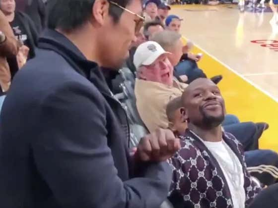 """Floyd Mayweather & Manny Pacquaio """"Ran Into Each Other"""" Yet Again And Completely Whiffed On An Awkward Handshake"""