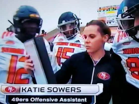 Don't Show This Clip Of 49ers Coach Katie Sowers To Your Grumpy Uncle Who Knows Less About Football Than Her