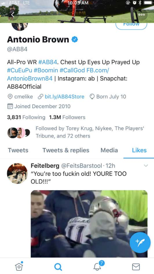 Does Antonio Brown Want To Pay For The Patriots His Twitter