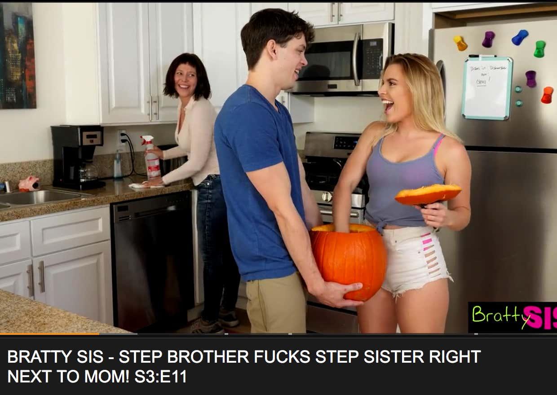 Step Sister Glasses Blowjob