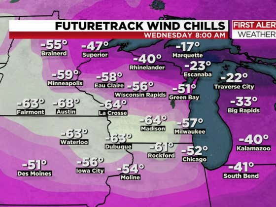 The Wind Chill Is Supposed To Be NEGATIVE Sixty Degrees In Parts Of The Midwest Next Week