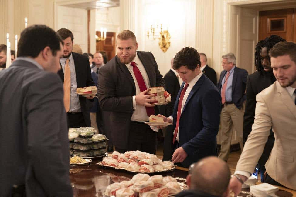Trump-has-McDonalds-Wendys-Burger-King-menu-for-Clemson-football-visit