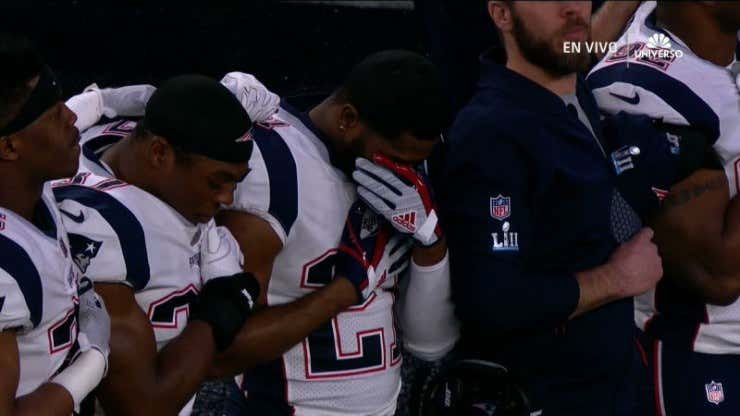 Malcolm Butler crying
