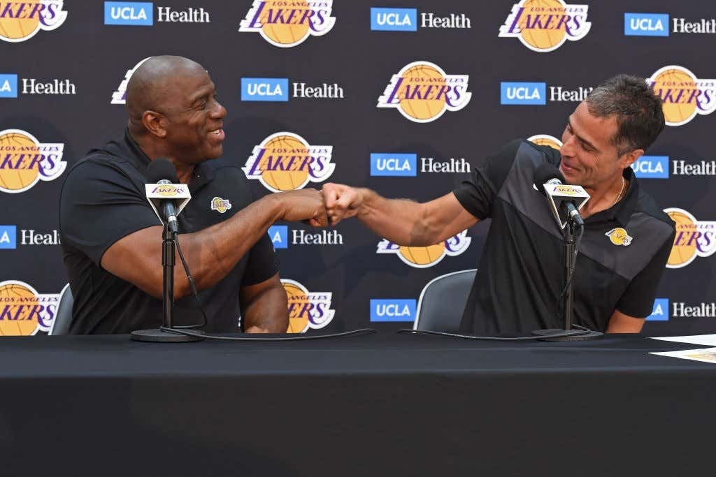 Magic Johnson and Rob Pelinka Press Conference