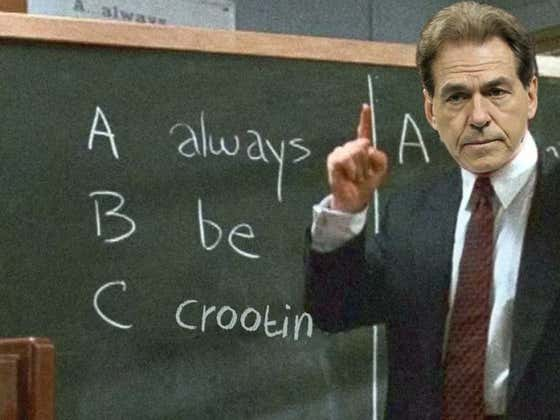"""Nick Saban Rescues 5-Star LB From The Portal, Destroys """"There Is No I In Team"""" Argument"""