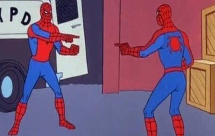 Image result for spiderman standoff