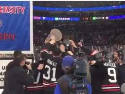"""From The Dog House To The Pent House"" Northeastern Wins Their Second Straight Beanpot"