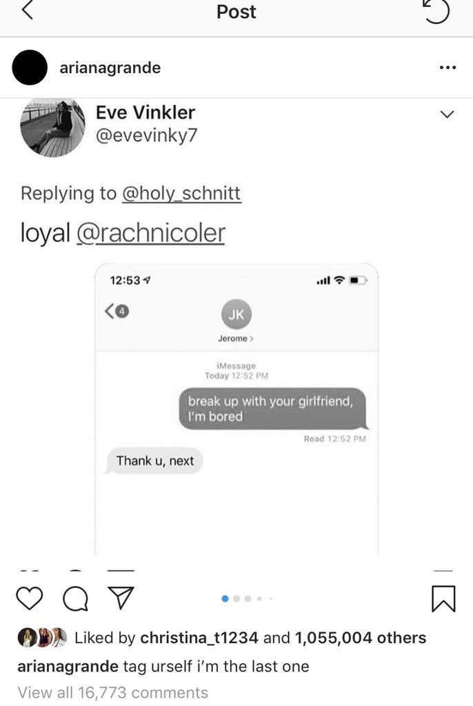 Did Ariana Grande Delete Her Instagram Of My Tweet Because