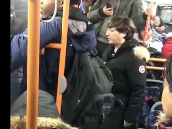 AREN'T THERE ANY GENTLEMEN ANYMORE? Woman Really Wants To Sit Down On The Train.