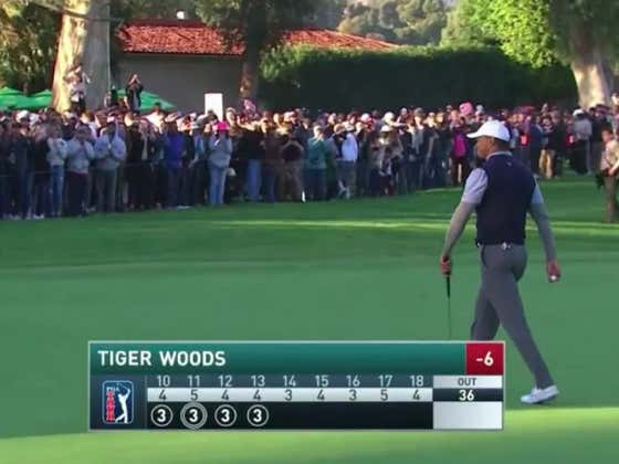 Tiger Woods Is Lighting Riviera On Fire On A Casual Saturday Night