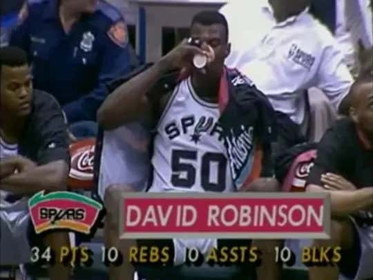 On This Date in Sports February 17, 1994: Robinson Quad-Double