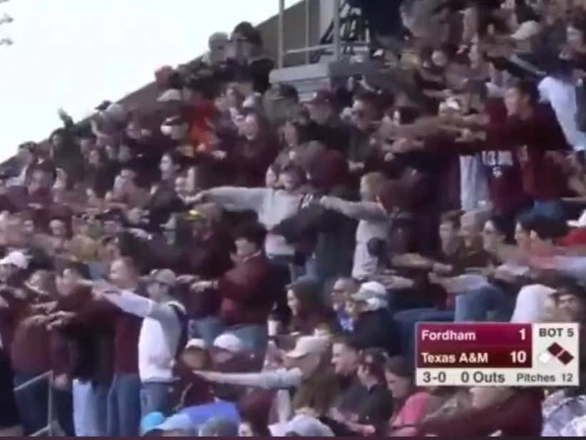 Texas A&M Baseball Fans With A Rude And Classless Chant At Opposing Pitcher