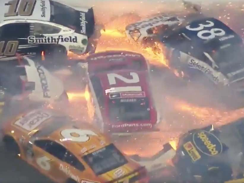 THE BIG ONE HAPPENED AT THE DAYTONA 500