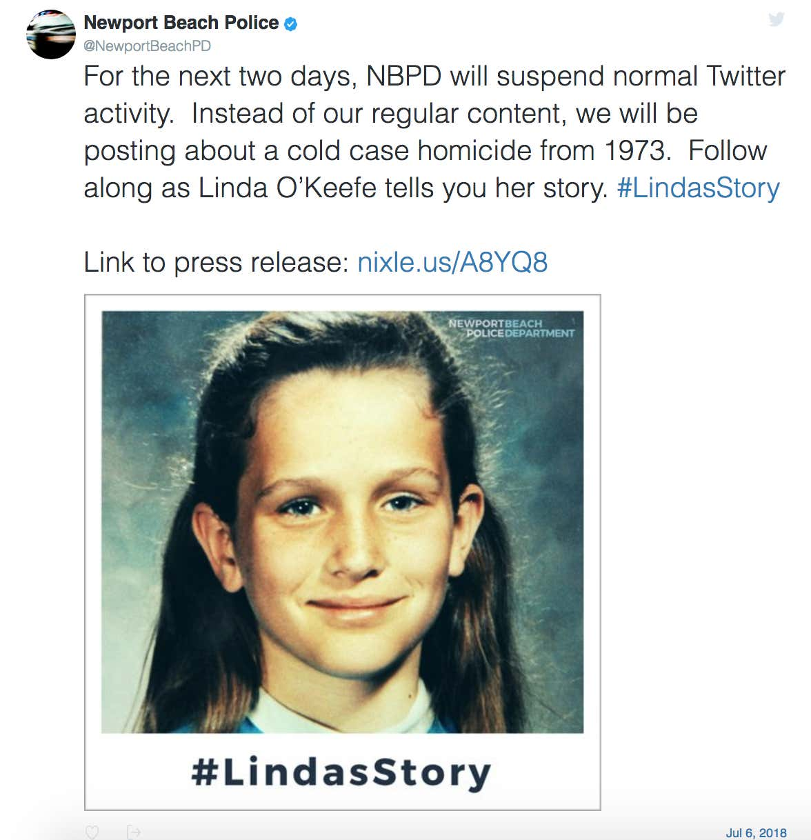 Cops Solve A 46 Year Cold Case Murder By Live-Tweeting As An