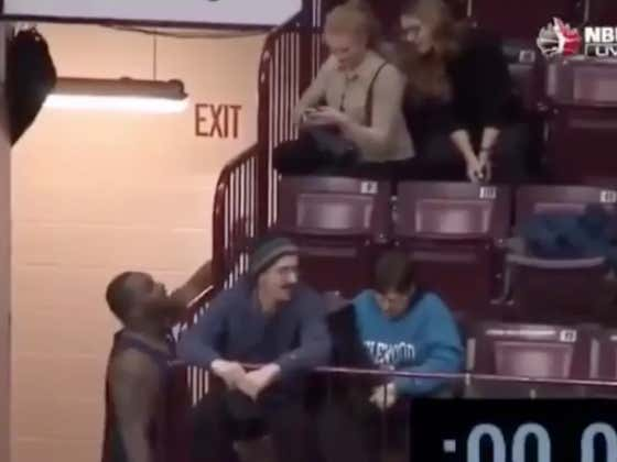 Shout Out Big Baby Davis Who Picked Up A Chick In The Stands While Playing In Canada