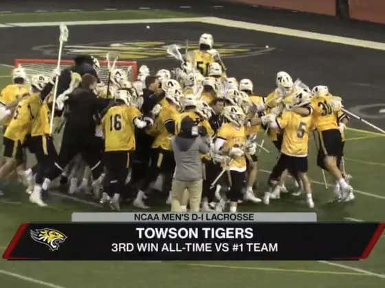 DOWN GOES LOYOLA. Towson Knocks Off The #1 Team In The Nation As The College Lacrosse Season Continues To Be Pure Chaos