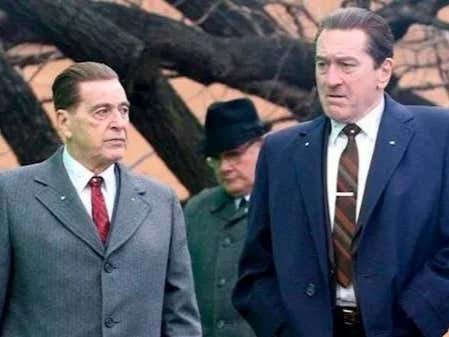 """The Irishman in """"The Irishman"""" is being played by an Italian(De Niro) and I for one AM OUTRAGED!"""