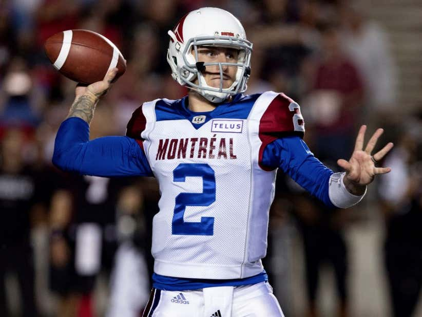 huge discount bbe84 a6649 Johnny Manziel Has Been Released And Is Now Banned From The CFL - Barstool  Sports