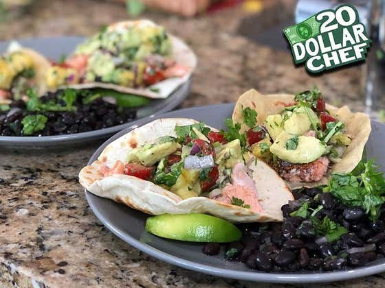 20 Dollar Chef - Tiki Barber & Blackened Salmon Tacos