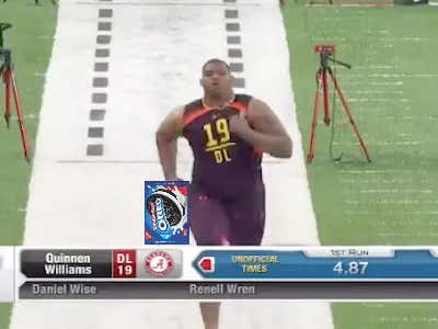 300-Pound DT Quinnen Williams Ran A 4.83 40 After Eating Only Four Double Stuf Oreos For Breakfast