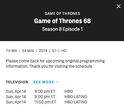 The Runtimes For The First Two Episodes Of This Season's