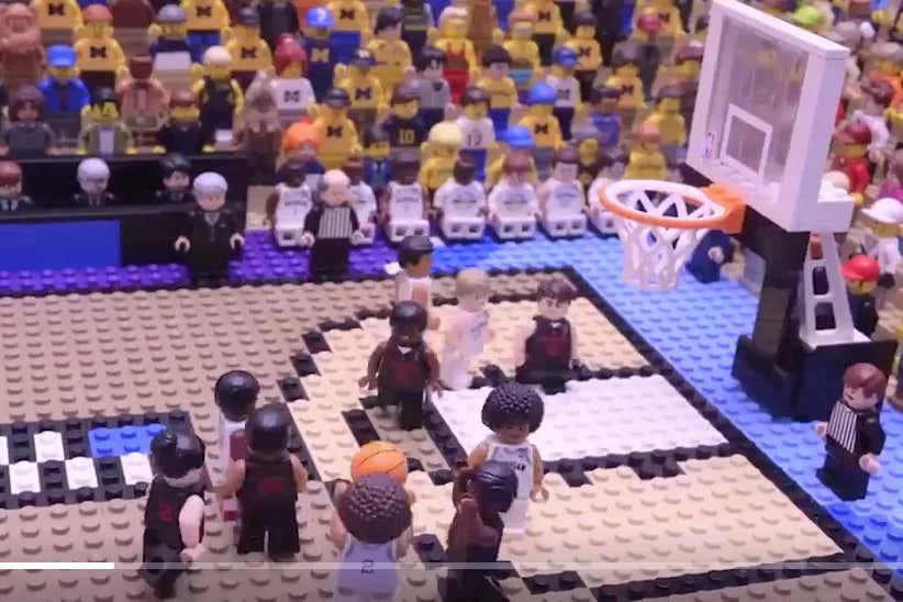 This Lego Version Of Jordan Poole's Buzzer Beater vs Houston Is