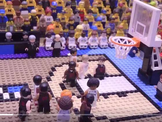 This Lego Version Of Jordan Poole's Buzzer Beater vs Houston Is Unreal (Plus A Barstool Easter Egg)