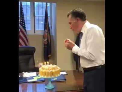 Mitt Romney Blows Out Birthday Candles Like This Is His First Trip To Planet Earth