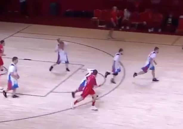 Matthew Millett, Team USA Special Olympics Basketball Player Absolutely DRILLS A Full Court Buzzer Beater