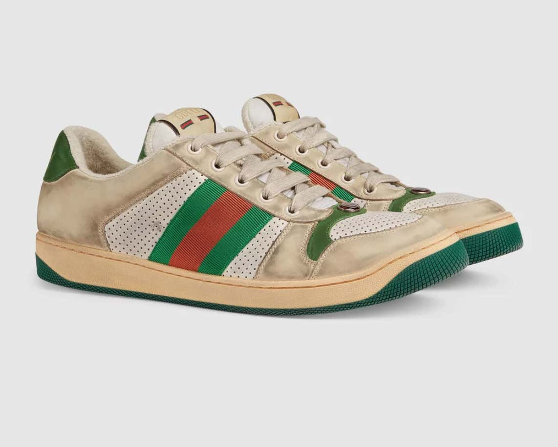 686d70957b4 Gucci Is Selling These Purposely Dirty and Distressed Shoes For the Low  Price Of  870