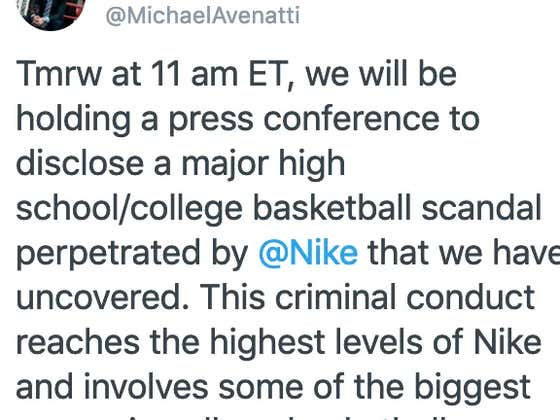 Stormy Daniels Lawyer Tweets Out There's A Massive Scandal With Nike And College Hoops Players Coming Tomorrow