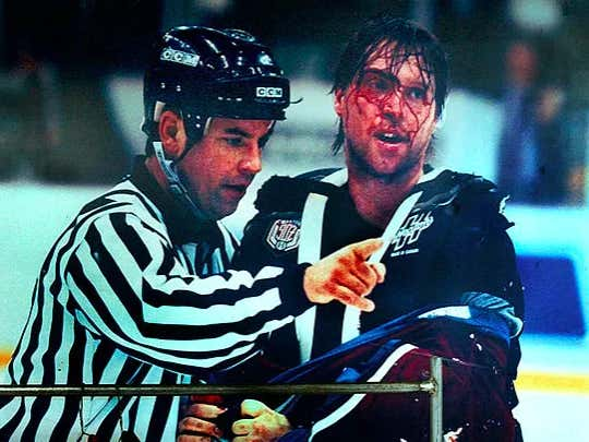 22-Years-Ago The World Witnessed 'The Brawl In Hockeytown' One Of The Most Insane Hockey Games Ever Played