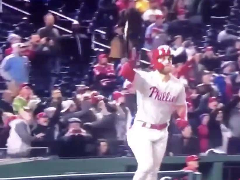 This Bryce Harper Bat Flip Just Sent The Nationals Back To Montreal