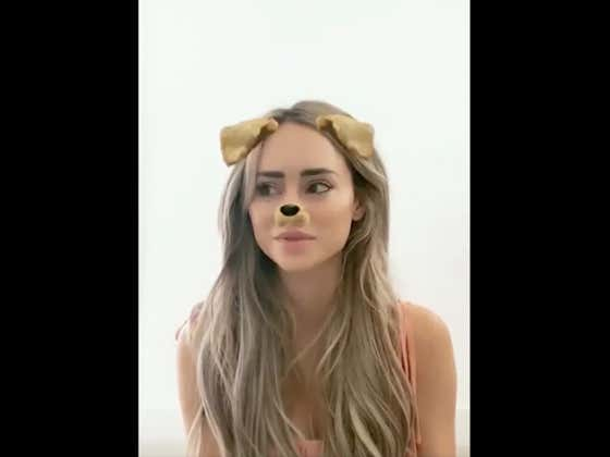 Bachelor Alum Amanda Stanton Addresses Very Serious Topic......While Using The Snapchat Dog Filter