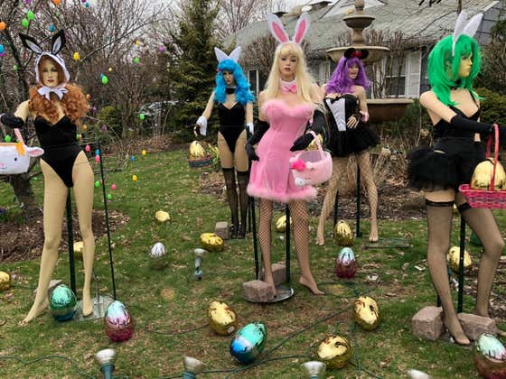 New Jersey Woman Destroys 'Disgusting' Playboy Bunny Easter Display In Front Of News Cameras