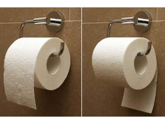 Irrefutable, Undeniable Evidence Has Come To Light About The Proper Way To Hang Your Toilet Paper