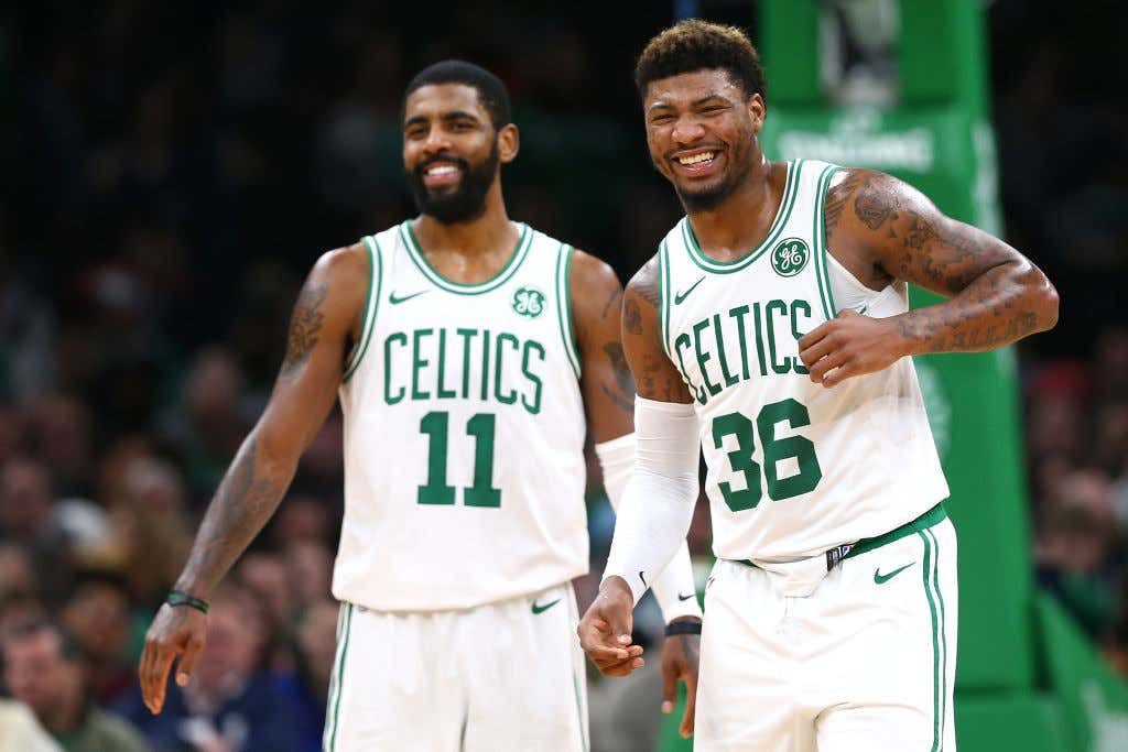 656d47b0ea50 The Kyrie Irving Marcus Smart Bromance Is The Most Important ...