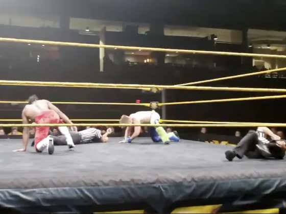 WWE Ref Snaps His Leg In The Middle Of A Match But Still Makes The 3 Count
