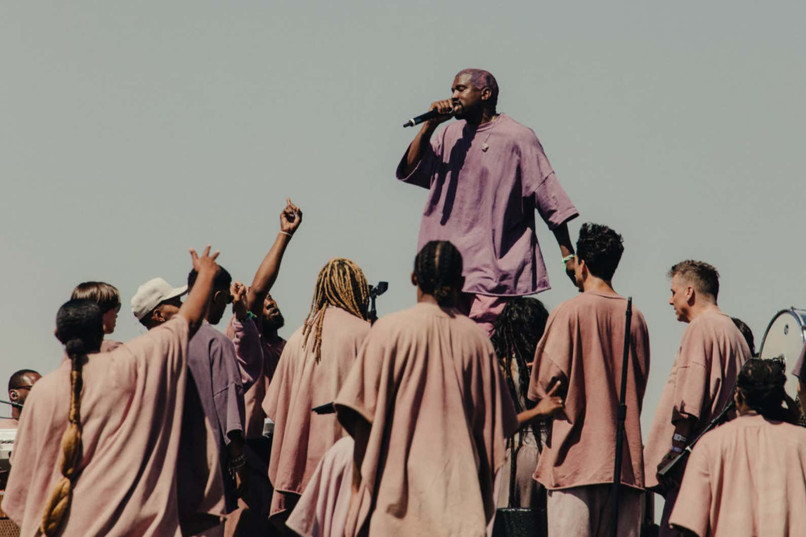 People Are Selling Grass From Kanye's Sunday Service At