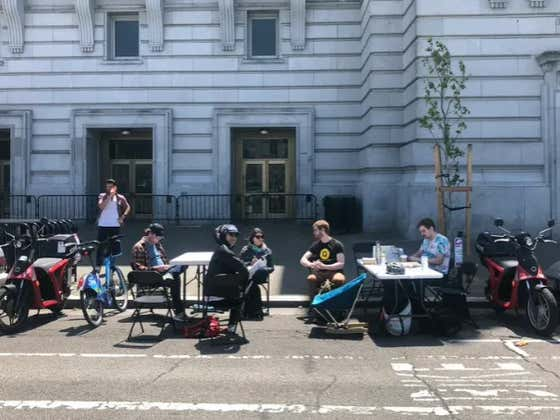 Office Space Is So Expensive In San Francisco That Employees Are Working In Parking Spaces For $2.25 An Hour