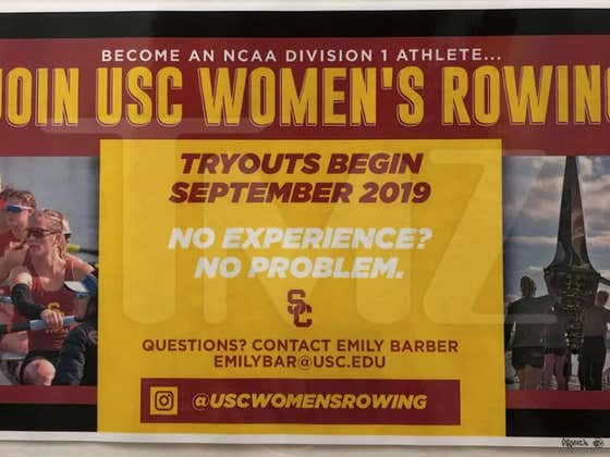 Teflon Aunt Becky May End Up Being Innocent Thanks To A USC Rowing Tweet & Campus Poster