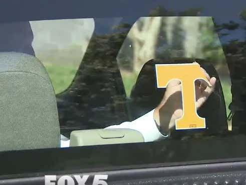 Lifelong Tennessee Fan Rips Vols Sticker Off His Pickup Truck After Son Commits To Play At Georgia