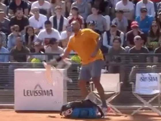 Tennis Player Nick Kyrgios Goes Full Bobby Knight Tossing a Chair Onto The Court And Gets DQ'd