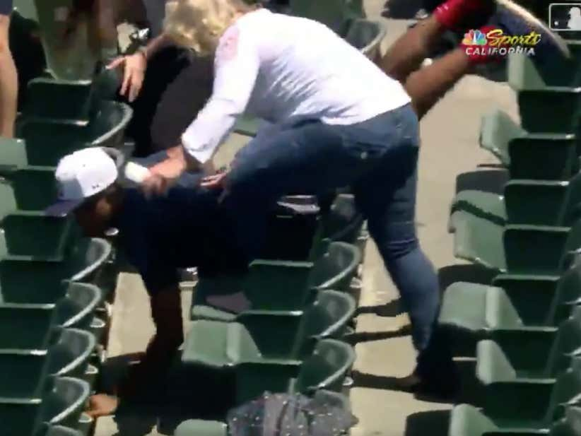 Kid Tries As Hard As Humanly Possible To Get A Foul Ball