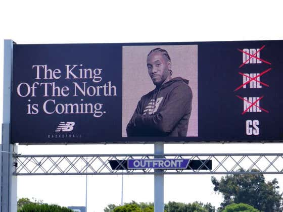 Pray For Oakland And Warriors Fans Who Saw This Kawhi Billboard This Morning